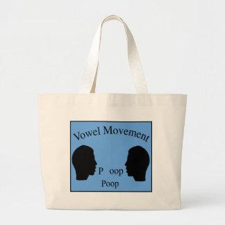 Vowel Movement - Blue Tote Bag