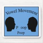Vowel Movement - Blue Mouse Pad