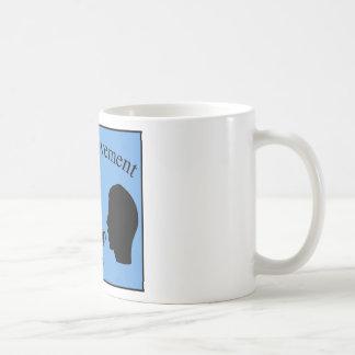 Vowel Movement - Blue Coffee Mugs