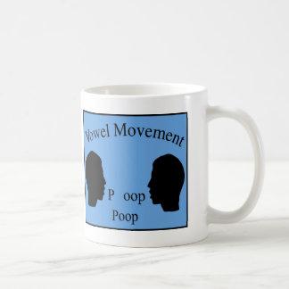 Vowel Movement - Blue Coffee Mug