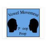 Vowel Movement - Blue Postcard
