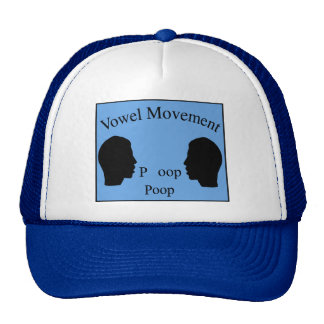 Vowel Movement - Blue Trucker Hat