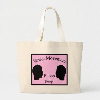 Vowel Movement - Pink Tote Bag