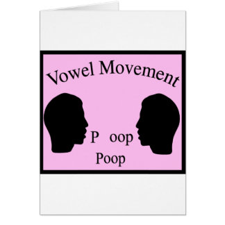 Vowel Movement - Pink Card