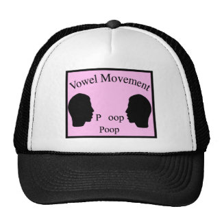 Vowel Movement - Pink Trucker Hat