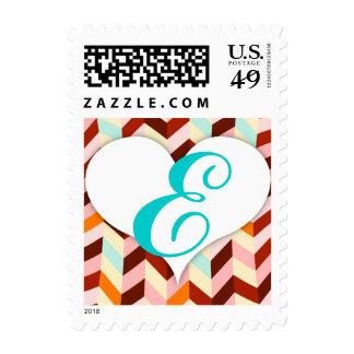 Vox Geo Femme (Custom) Monogram Postage Stamp