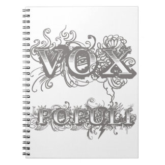 Vox Populi or Voice Of The People Notebook