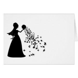 Voxeed Bride Silhouette Black Glitter Card