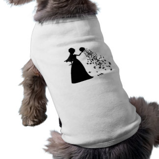 Voxeed Bride Silhouette Black Glitter Doggie T Shirt