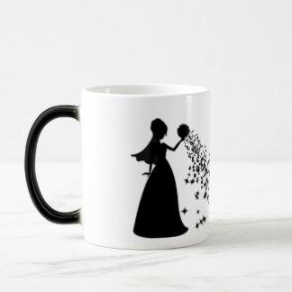 Voxeed Bride Silhouette Black Glitter Magic Mug