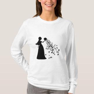 Voxeed Bride Silhouette Black Glitter T-Shirt