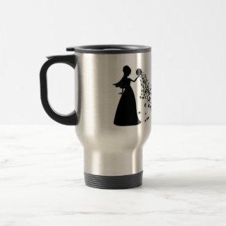 Voxeed Bride Silhouette Black Glitter Travel Mug