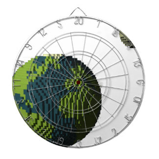 Voxel Art of Earth and Moon Dartboard
