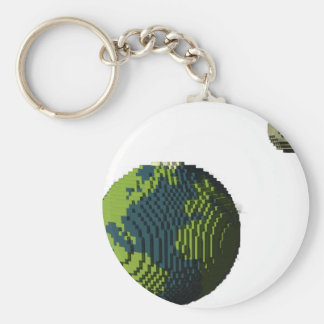 Voxel Art of Earth and Moon Keychain