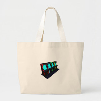 Voxel Art of Some Arcade Games Large Tote Bag