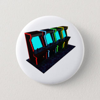 Voxel Art of Some Arcade Games Pinback Button