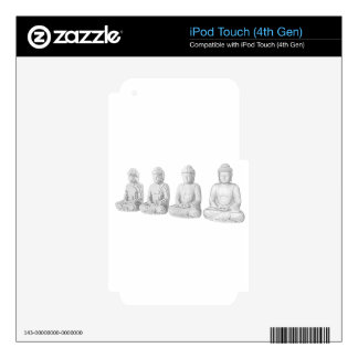 Voxel Buddha Decals For iPod Touch 4G