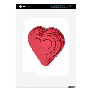 Voxel Heart Skins For iPad 3