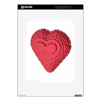 Voxel Heart Skins For The iPad 2