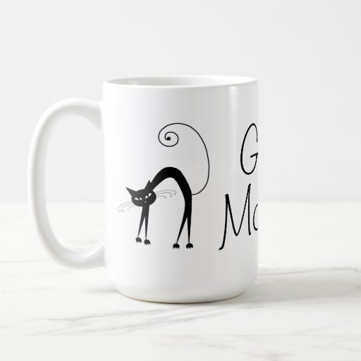 Voxkitty Black Cat - Good Morning Coffee Mug