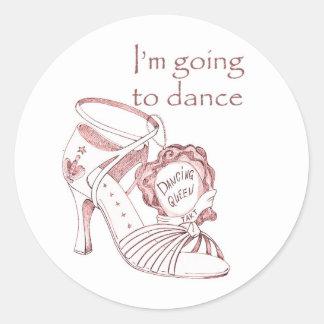 Voy a bailar etiquetas redondas