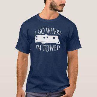 Voy a donde estoy camiseta remolcada