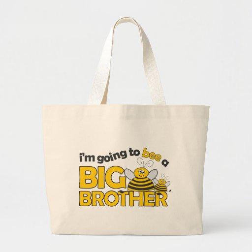Voy a la ABEJA una camiseta de hermano mayor Bolsa De Mano