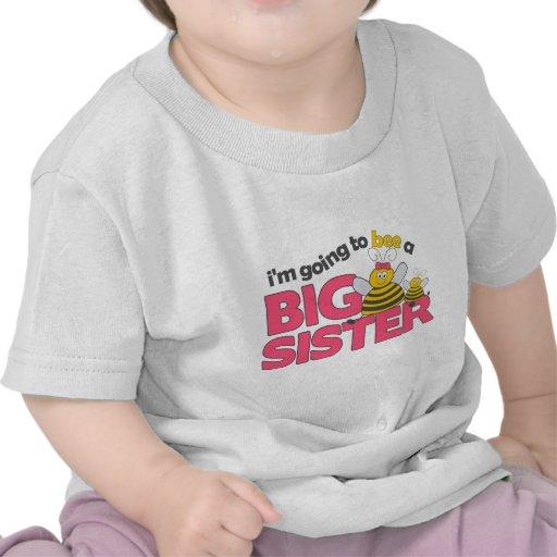 Voy a la abeja una camiseta de la hermana grande
