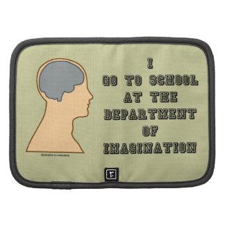 Voy a la escuela en el departamento de imaginación organizadores