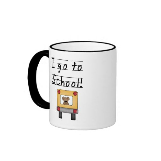 Voy a la escuela taza a dos colores