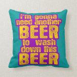 Voy a necesitar otra cerveza almohadas