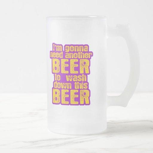 Voy a necesitar otra cerveza tazas de café