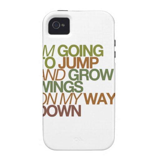 voy a saltar y a crecer las alas en mi manera abaj vibe iPhone 4 funda