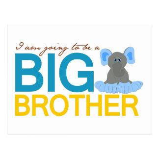 Voy a ser un elefante de hermano mayor tarjeta postal
