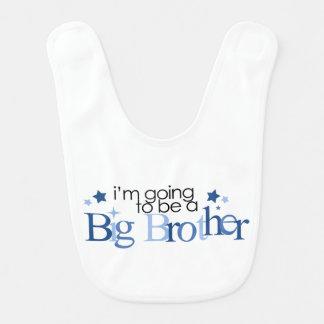 Voy a ser un hermano mayor {azul} baberos para bebé