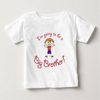 ¡Voy a ser un hermano mayor! Playera Para Bebé