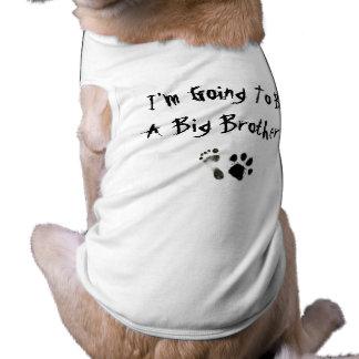¡Voy a ser un hermano mayor! Playera Sin Mangas Para Perro