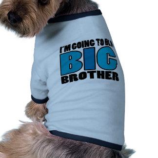Voy a ser un hermano mayor camisetas mascota