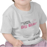 Voy a ser una hermana grande camisetas