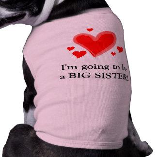 ¡Voy a ser una hermana grande! Playera Sin Mangas Para Perro