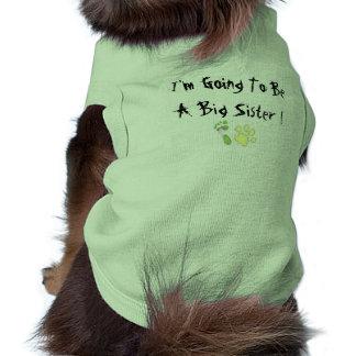 Voy a ser una hermana grande camisa de perro