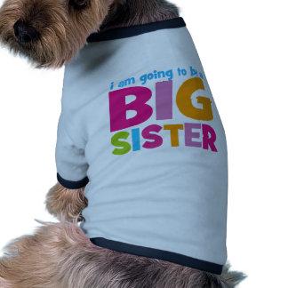 Voy a ser una hermana grande ropa de mascota