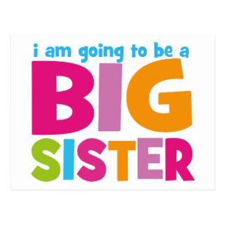 Voy a ser una hermana grande tarjetas postales