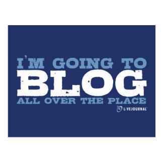 Voy al blog por todas partes (LiveJournal) Tarjeta Postal