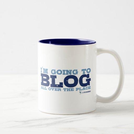 Voy al blog por todas partes (LiveJournal) Taza Dos Tonos