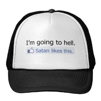 Voy al infierno gorros bordados