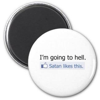 Voy al infierno imán redondo 5 cm
