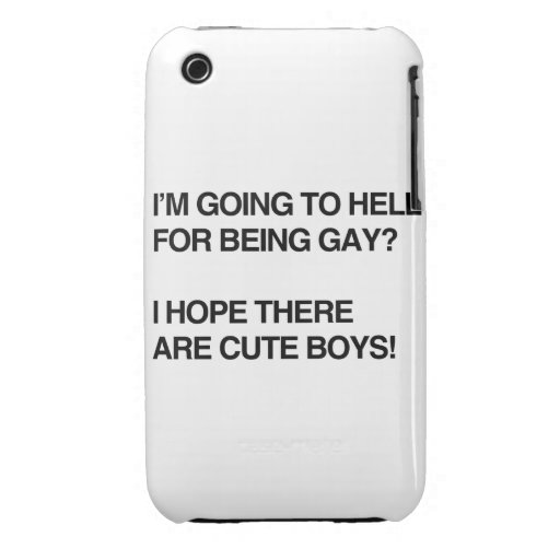 VOY AL INFIERNO PARA SER GAY Case-Mate iPhone 3 FUNDA