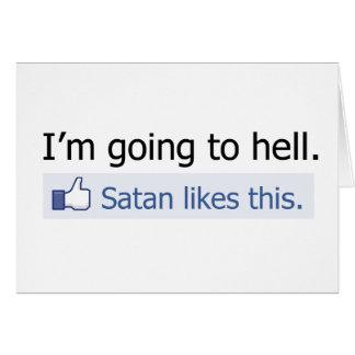 Voy al infierno tarjeta de felicitación