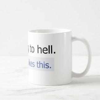 Voy al infierno taza